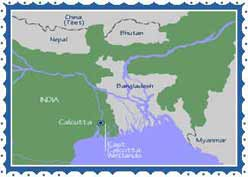 Calcutta Location - Kolkata Geography - Calcutta Topography